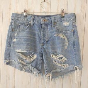 LUCKY BRAND Destroyed Boyfriend Shorts Holes 00 24